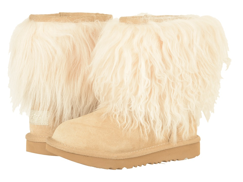 UGG Kids Classic Short II Fluff (Little Kid/Big Kid) (Natural) Girls Shoes