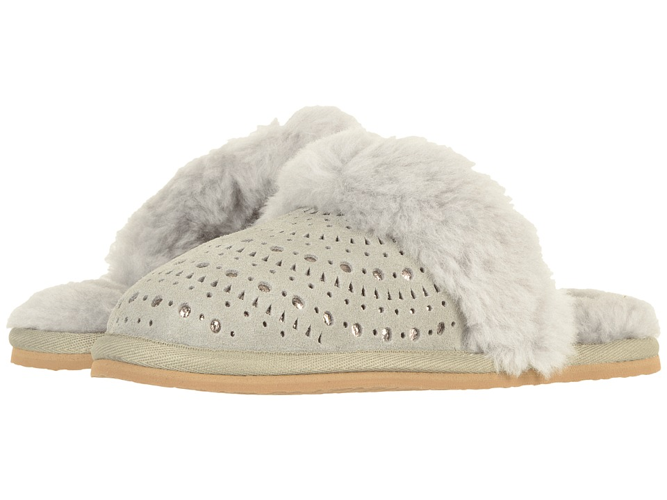 UGG Kids Finn Sunshine Perf (Little Kid/Big Kid) (Seal) Girls Shoes