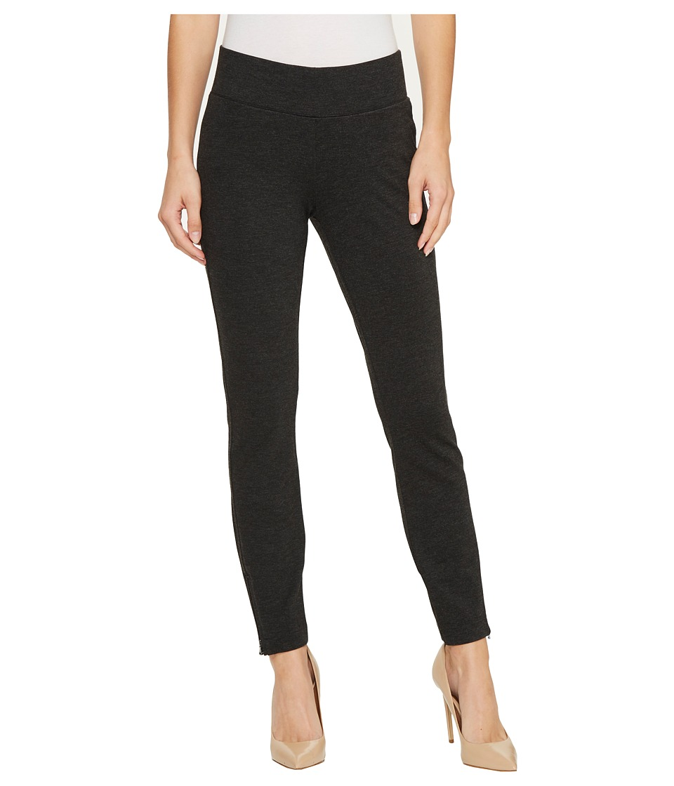 NYDJ - Pull-On Legging Pants w/ Ankle Zip (Charcoal) Womens Casual Pants