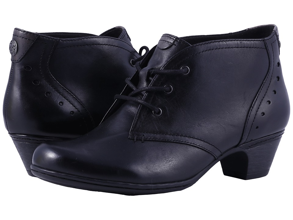1950s Style Shoes Rockport Cobb Hill Collection - Cobb Hill Aria Black Leather Womens Lace-up Boots $139.95 AT vintagedancer.com