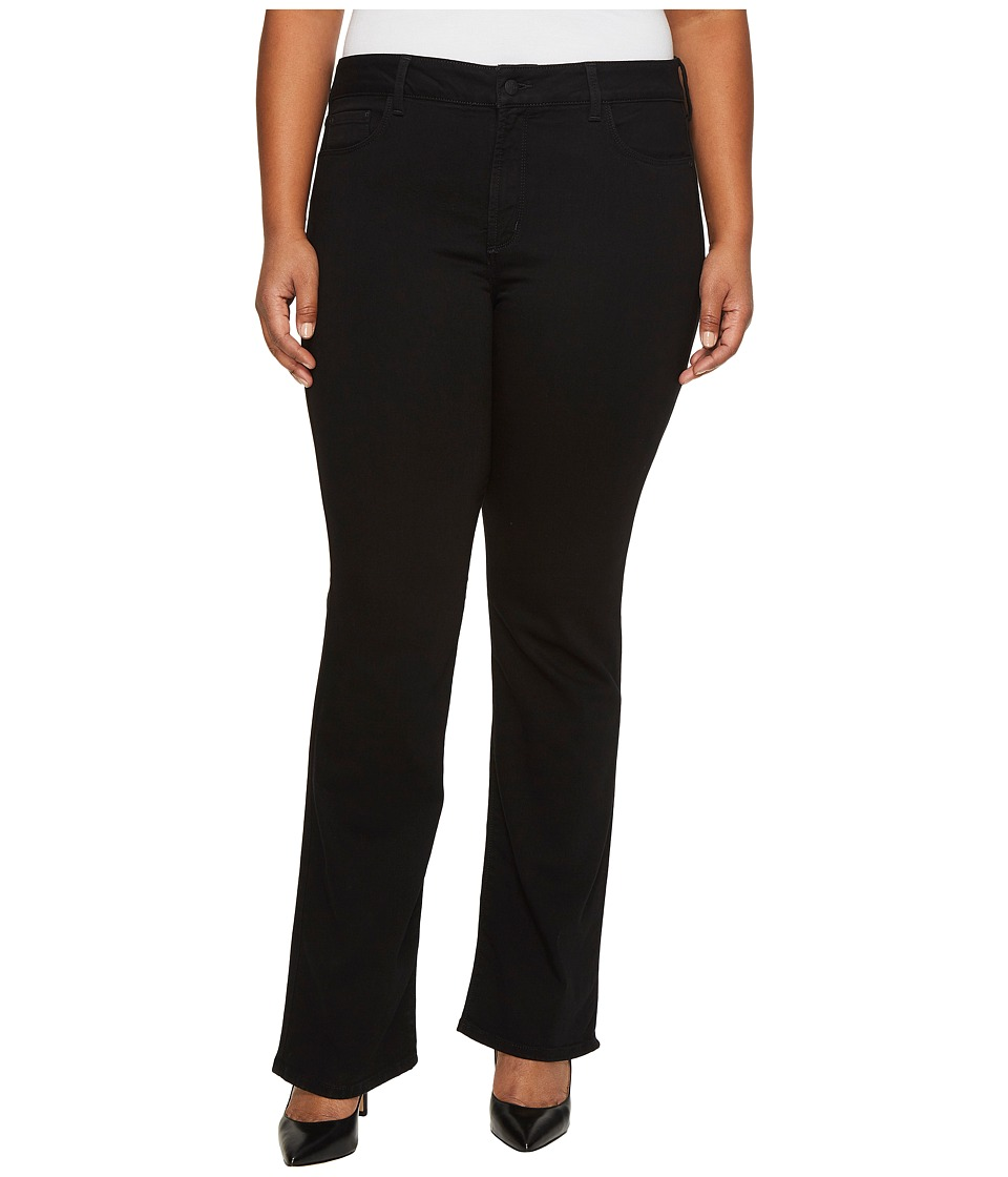 NYDJ Plus Size Plus Size Barbara Bootcut Jeans in Luxury Touch Denim in Black (Black) Women