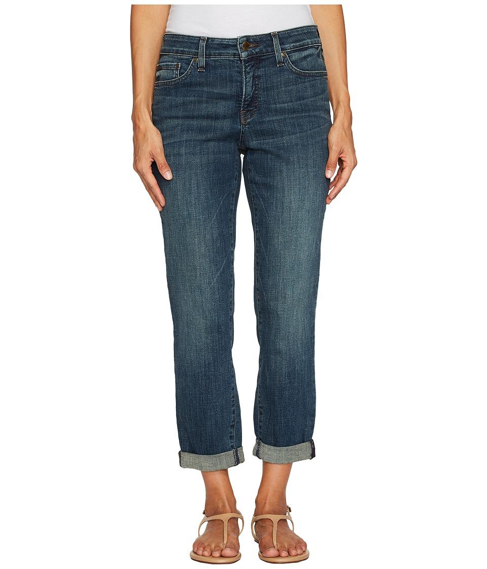 NYDJ Petite Petite Boyfriend Jeans in Crosshatch Denim in Desert Gold (Desert Gold) Women
