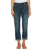 NYDJ Petite - Petite Boyfriend Jeans in Crosshatch Denim in Desert Gold