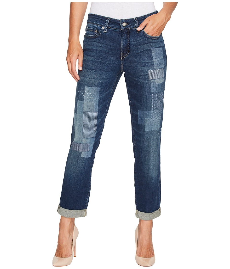 NYDJ - Boyfriend Jeans w/ Laser Patch and Embroidery in Horizon (Horizon) Womens Jeans