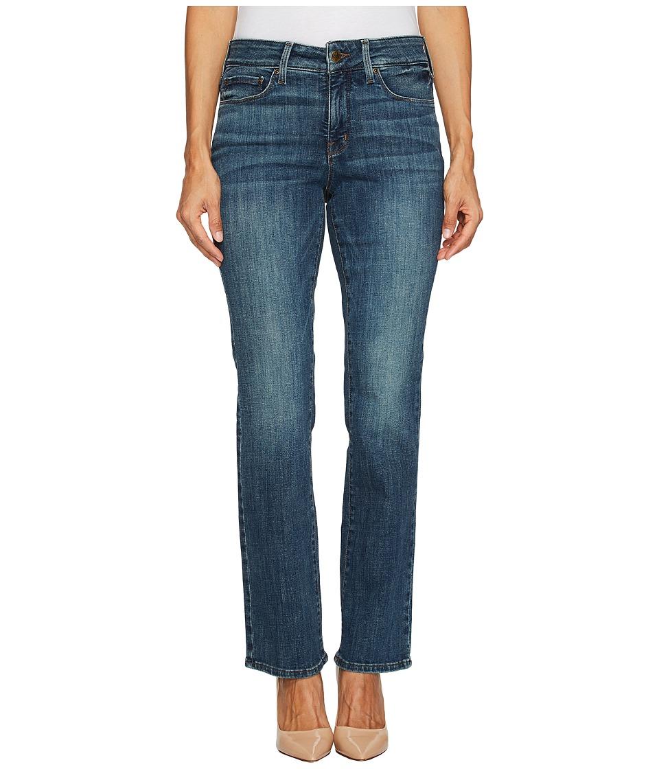 NYDJ Petite Petite Marilyn Straight Jeans in Crosshatch Denim in Desert Gold (Desert Gold) Women