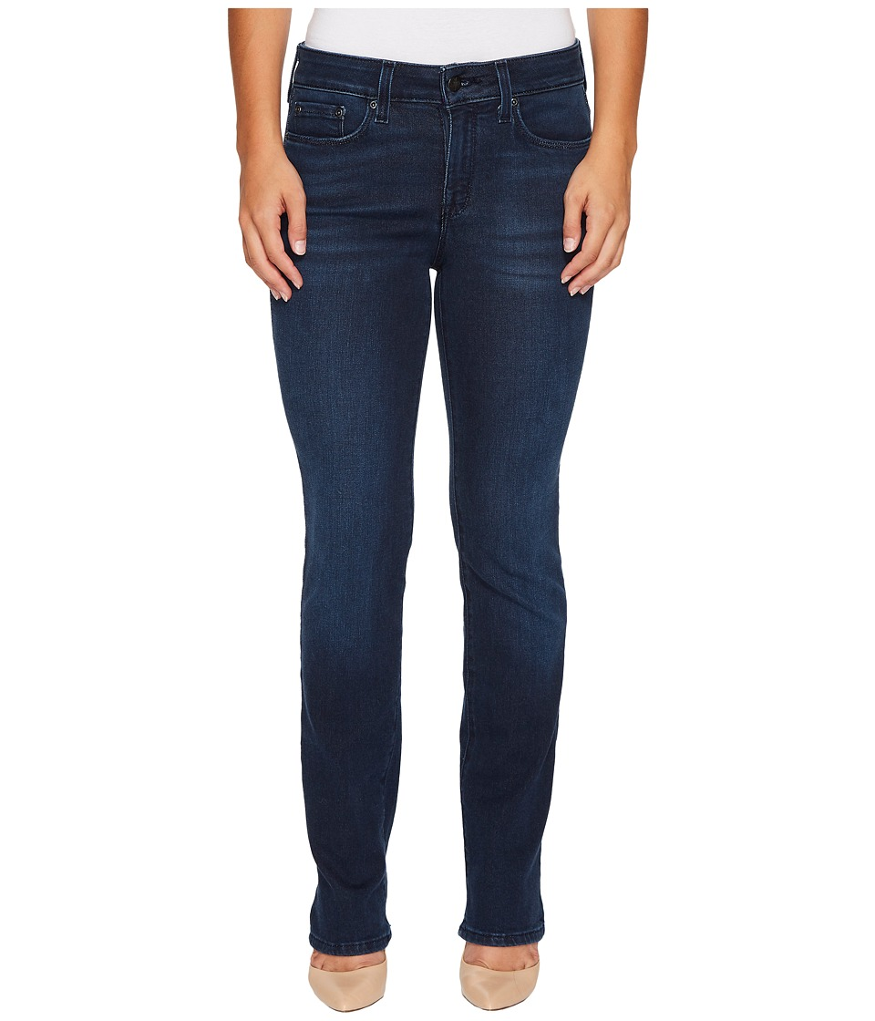 NYDJ Petite - Petite Marilyn Straight Jeans in Smart Embrace Denim in Morgan (Morgan) Womens Jeans