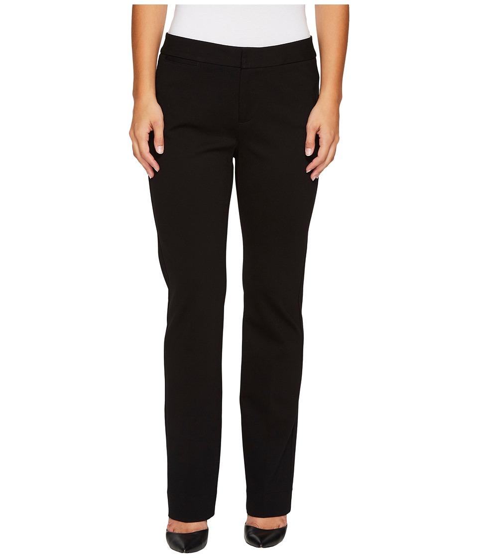 NYDJ Petite Petite Ponte Trouser Pants in Black (Black) Women