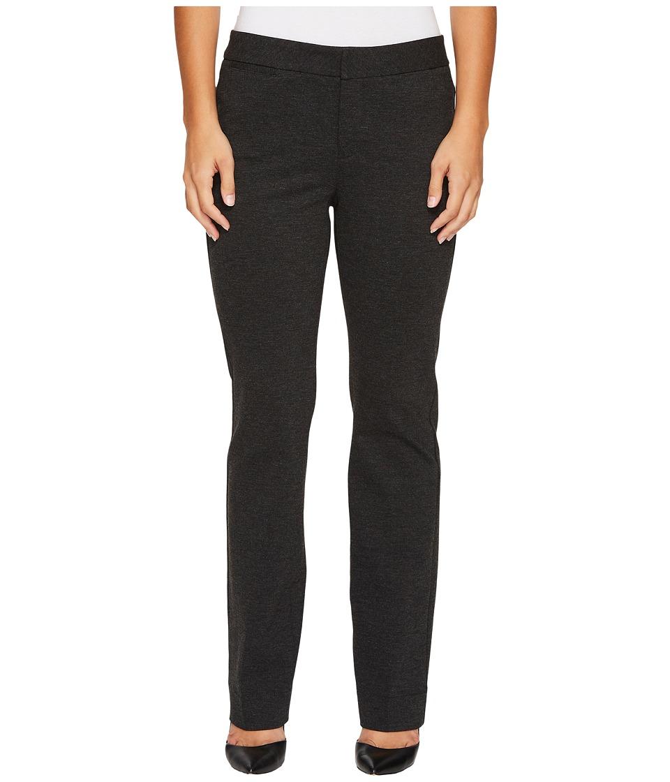 NYDJ Petite Petite Ponte Trouser Pants in Charcoal (Charcoal) Women