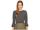 Kate Spade New York - Stripe Flounce Knit Top