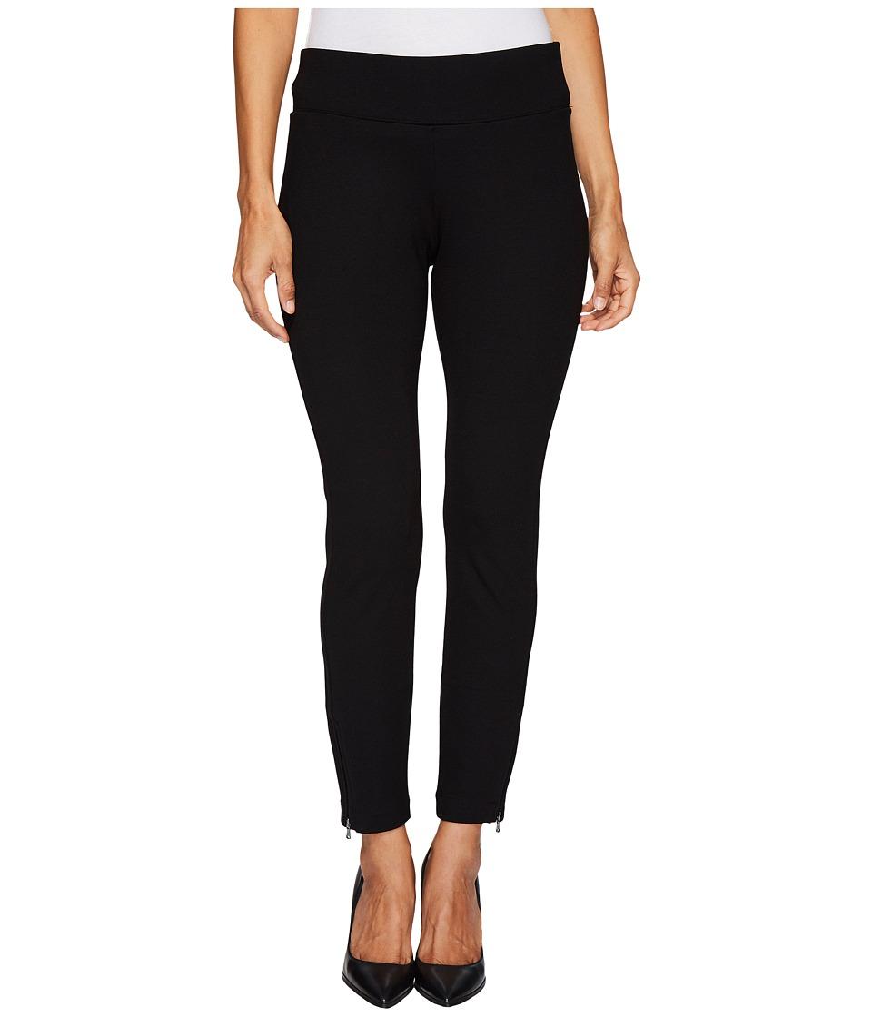 NYDJ Petite Petite Pull-On Legging Pants w/ Ankle Zip in Black (Black) Women