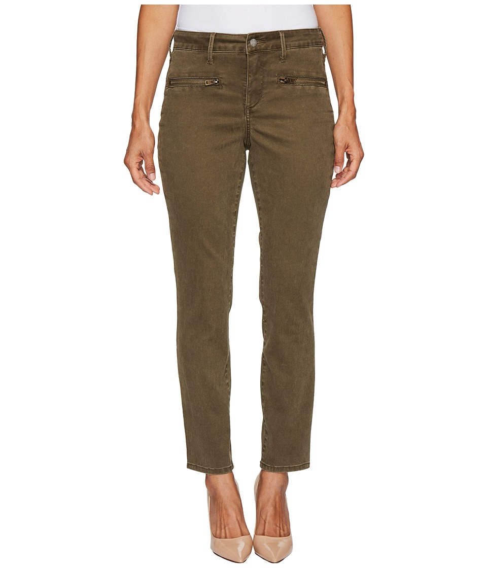 NYDJ Petite Petite Skinny Chino Pants w/ Zipper in Dry Sage (Dry Sage) Women