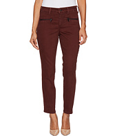 NYDJ Petite - Petite Skinny Chino Pants w/ Zipper in Deep Currant