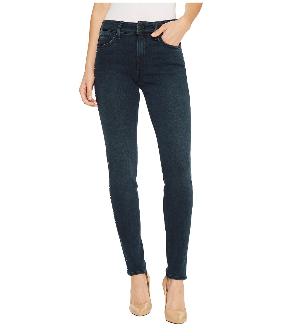 NYDJ - Ami Skinny Legging Jeans w/ Studs in Future Fit Denim in Mason (Mason) Womens Jeans