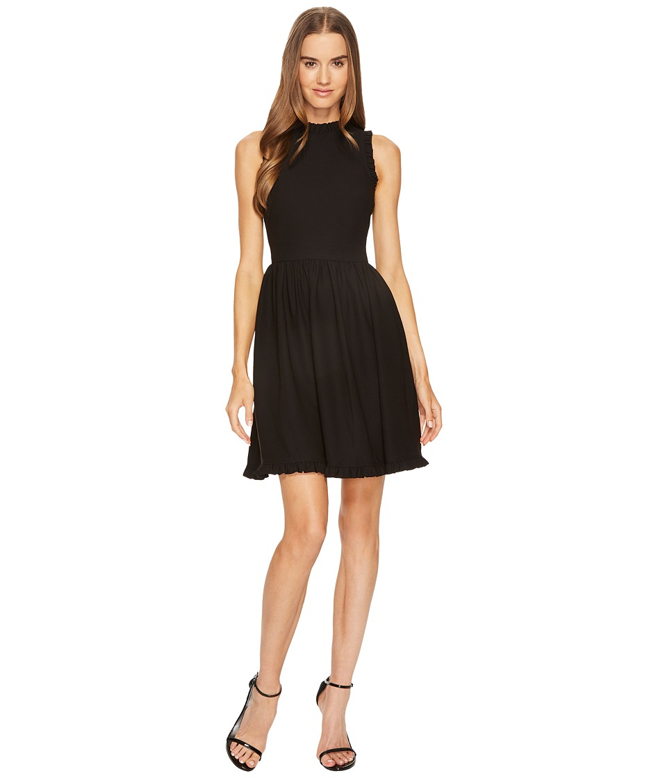 Kate Spade New York Ruffle Fit and Flare Dress (Black) Women