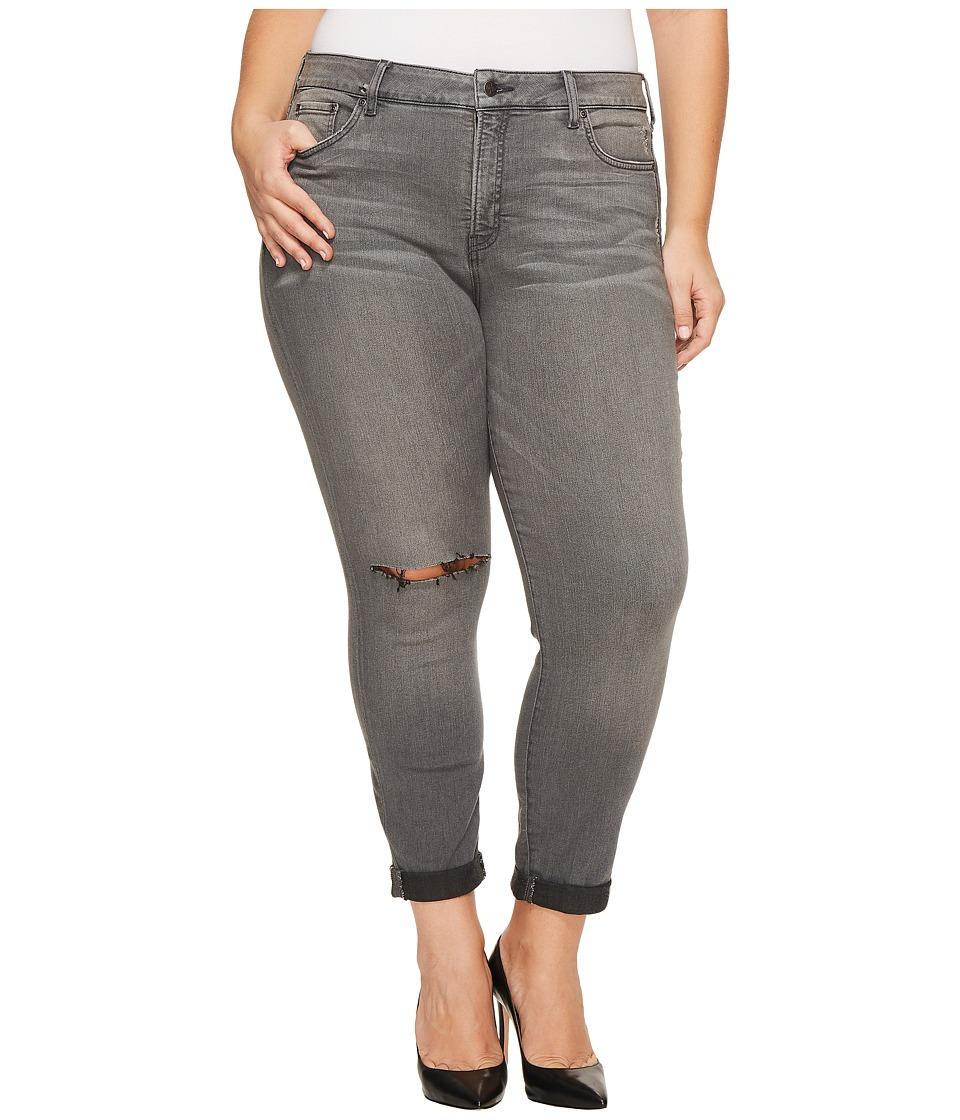 NYDJ Plus Size - Plus Size Girlfriend Jeans with Knee Slit in Future Fit Denim in Alchemy (Alchemy) Womens Jeans