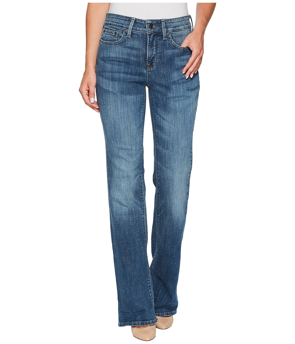 NYDJ - Barbara Bootcut Jeans in Crosshatch Denim in Newton (Newton) Womens Jeans