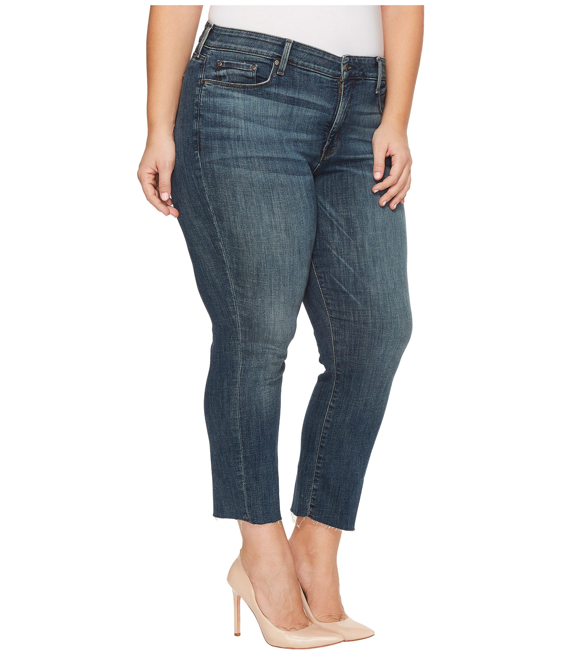 NYDJ Plus Size Plus Size Marilyn Ankle Jeans with Raw Hem in ...