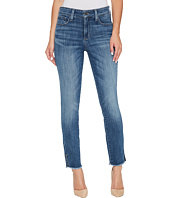 NYDJ - Ami Skinny Ankle Jeans w/ Fray Side Slit in Crosshatch Denim in Newton