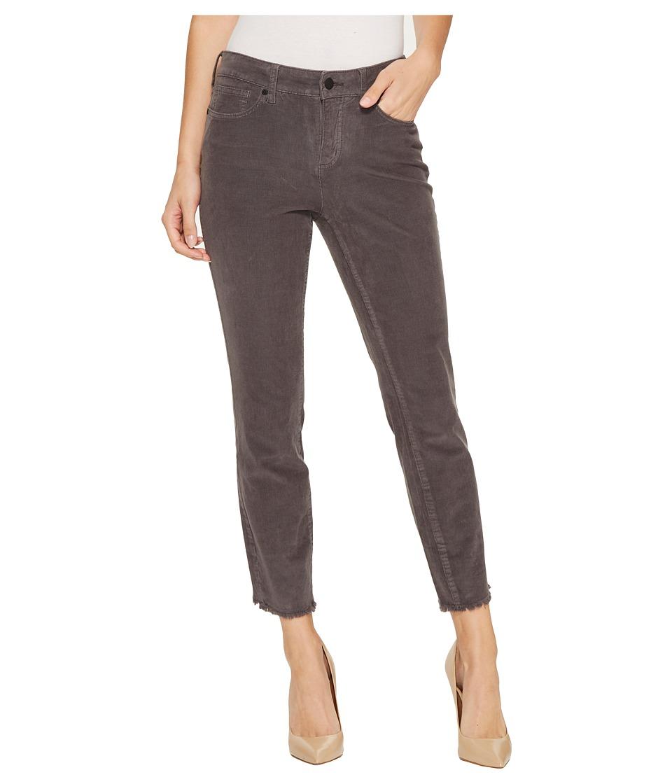 NYDJ - Alina Ankle Corduroy Pants w/ Fray Hem