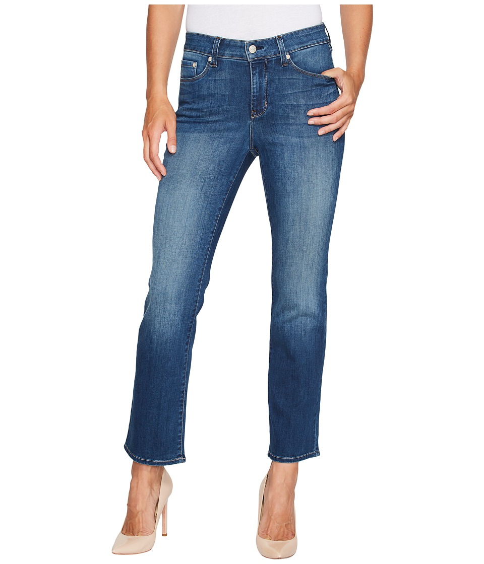 NYDJ - Marilyn Straight Ankle Jeans in Crosshatch Denim in Anson (Anson) Womens Jeans