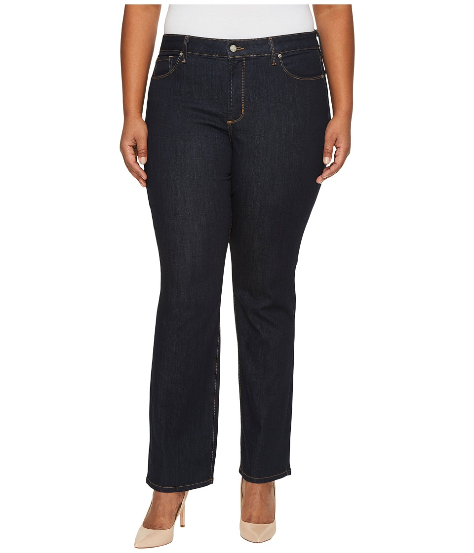 NYDJ Plus Size - Plus Size Marilyn Straight Jeans in Larchmont Wash (Larchmont Wash) Womens Jeans