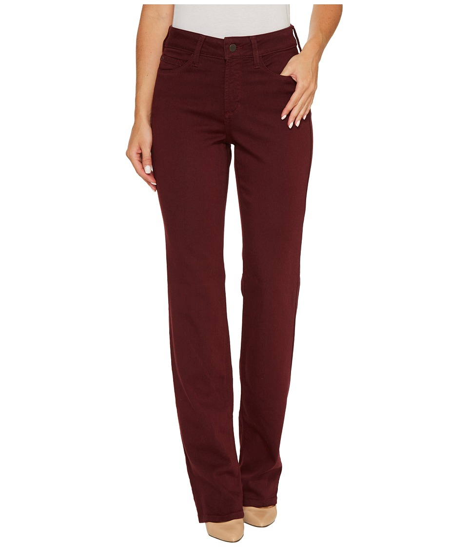 NYDJ Marilyn Straight Jeans in Luxury Touch Denim in Deep Currant (Deep Currant) Women