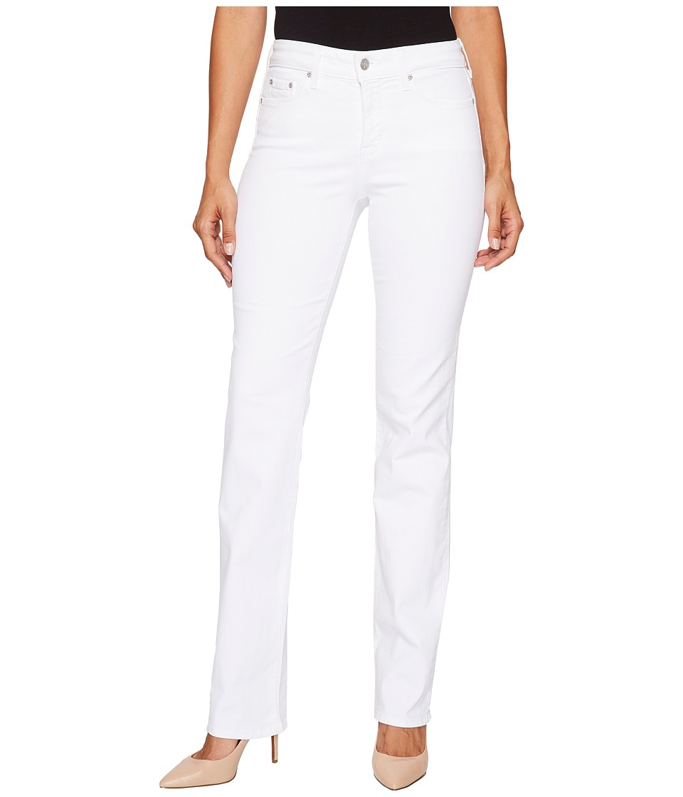 NYDJ Marilyn Straight Jeans in Optic White (Optic White) Women