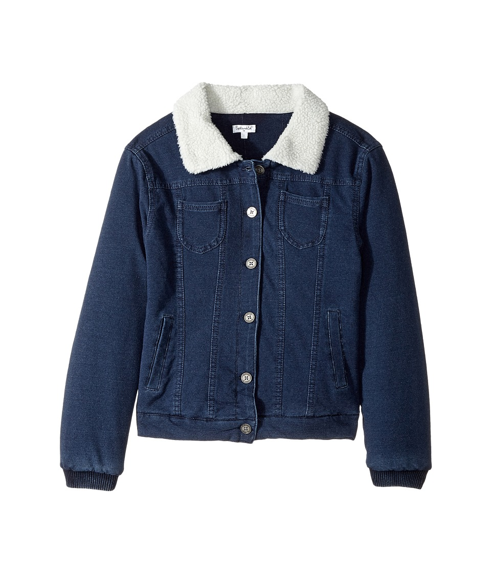 Splendid Littles Baby French Terry Sherpa Jacket (Big Kids) (Indigo) Girl