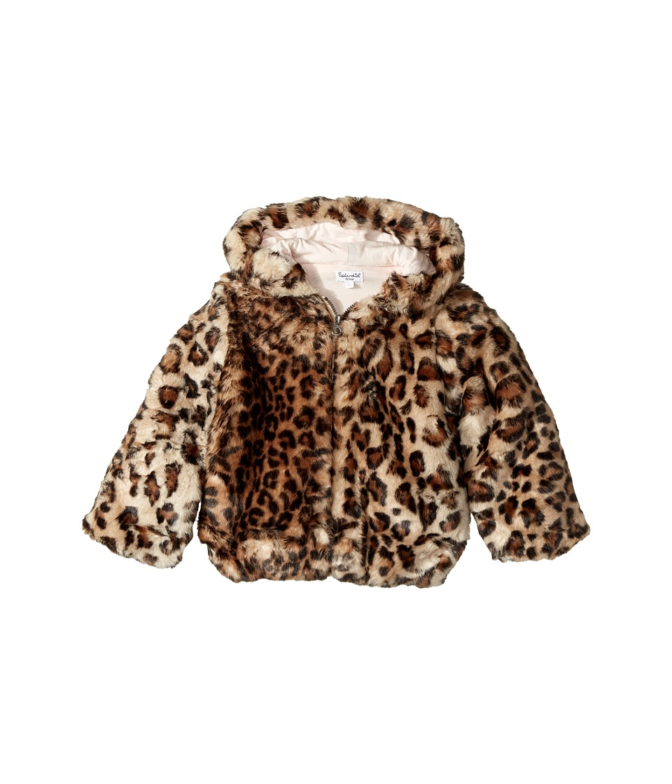 Splendid Littles - Leopard Faux Fur Hooded Jacket (Infant...