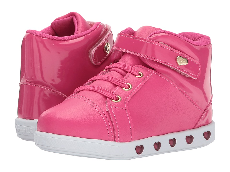 Pampili Sneaker Luz 165022 (Toddler/Little Kid) (Pink) Girl's Shoes
