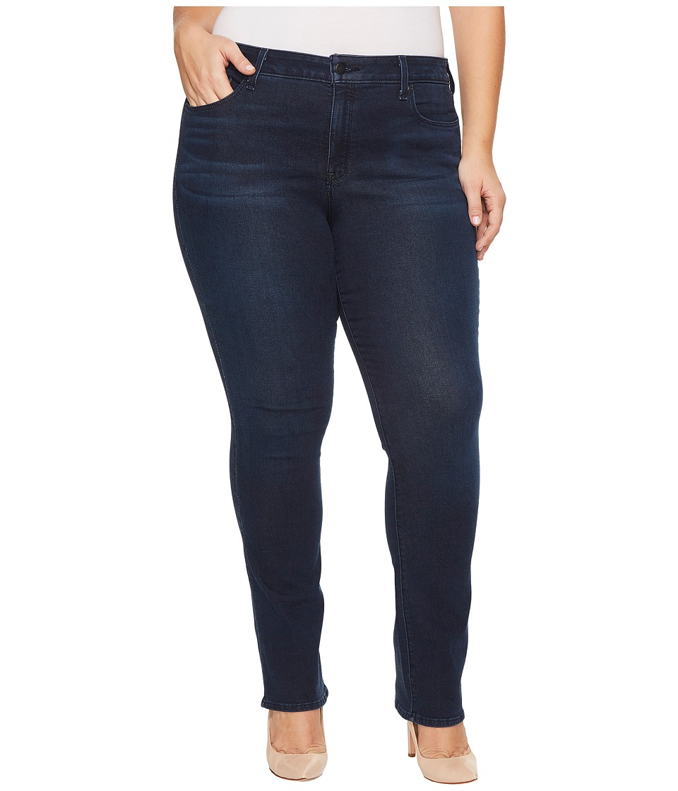 NYDJ Plus Size - Plus Size Marilyn Straight Jeans in Smart Embrace Denim in Morgan (Morgan) Womens Jeans