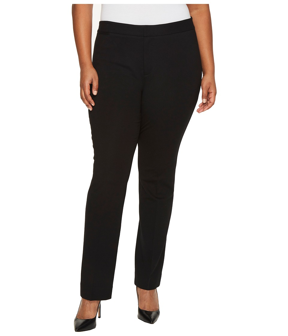 NYDJ Plus Size Plus Size Ponte Trousers in Black (Black) Women