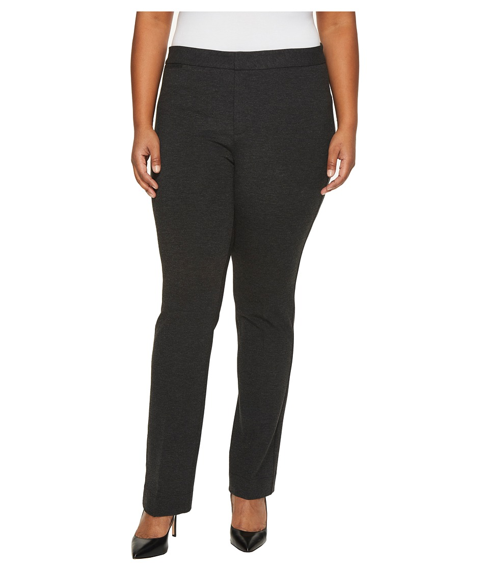 NYDJ Plus Size - Plus Size Ponte Trousers in Heathered Charcoal (Heathered Charcoal) Womens Jeans