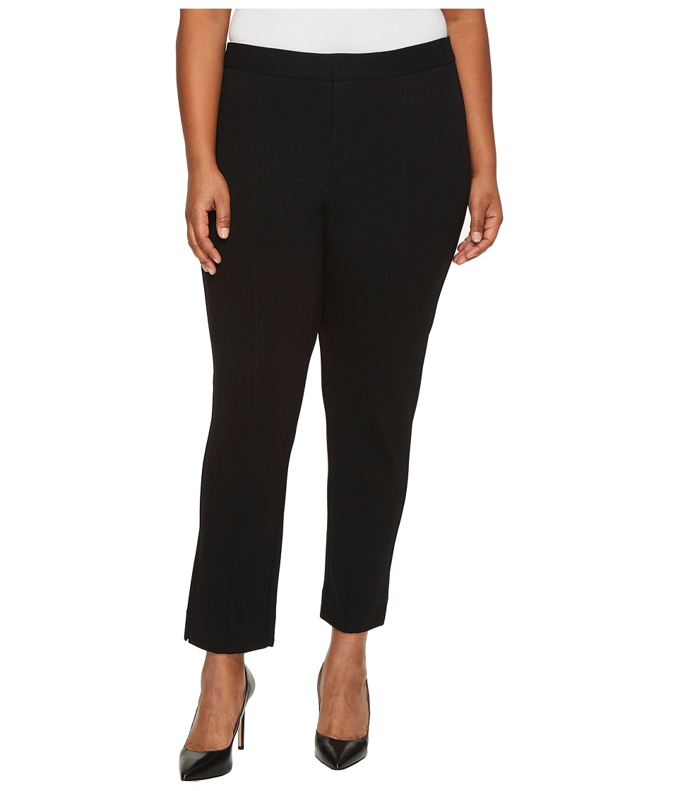 NYDJ Plus Size Plus Size Ponte Ankle Pants in Black (Black) Women