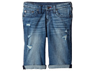 True Religion Kids Geno Single End Shorts in Used Wash (Big Kids)