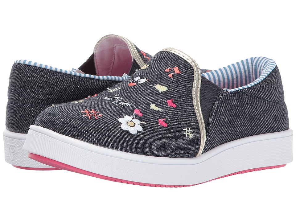 Pampili Tenis Link 417005 (Little Kid/Big Kid) (Jeans Escuro) Girl's Shoes