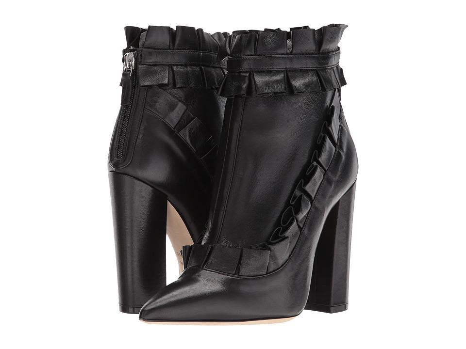 Racine Carree - Ruffle Ankle Heel (Black/Black/Black) Womens Shoes