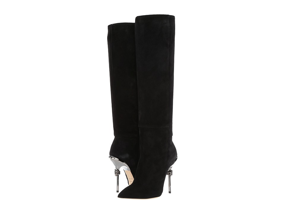Racine Carree - Suede 105mm Knee High Boot w/ Metal Heel