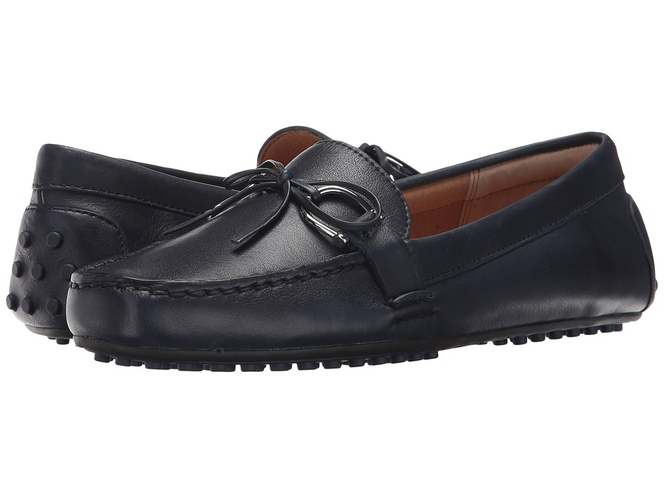LAUREN Ralph Lauren Briley-FL (Modern Navy Super Soft Leather) Women