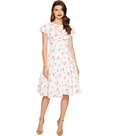 Unique Vintage - Cherry Print Cap Sleeve Dixon Day Dress