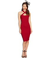 Unique Vintage - Crisscross Halter Penelope Wiggle Dress