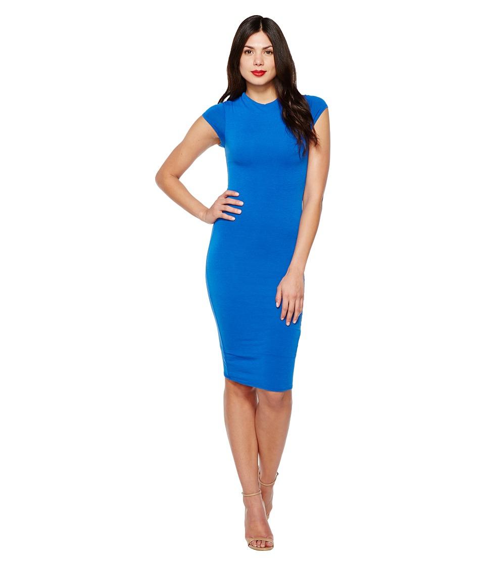 Unique Vintage Fitted Pencil Dress Holly (Blue) Women