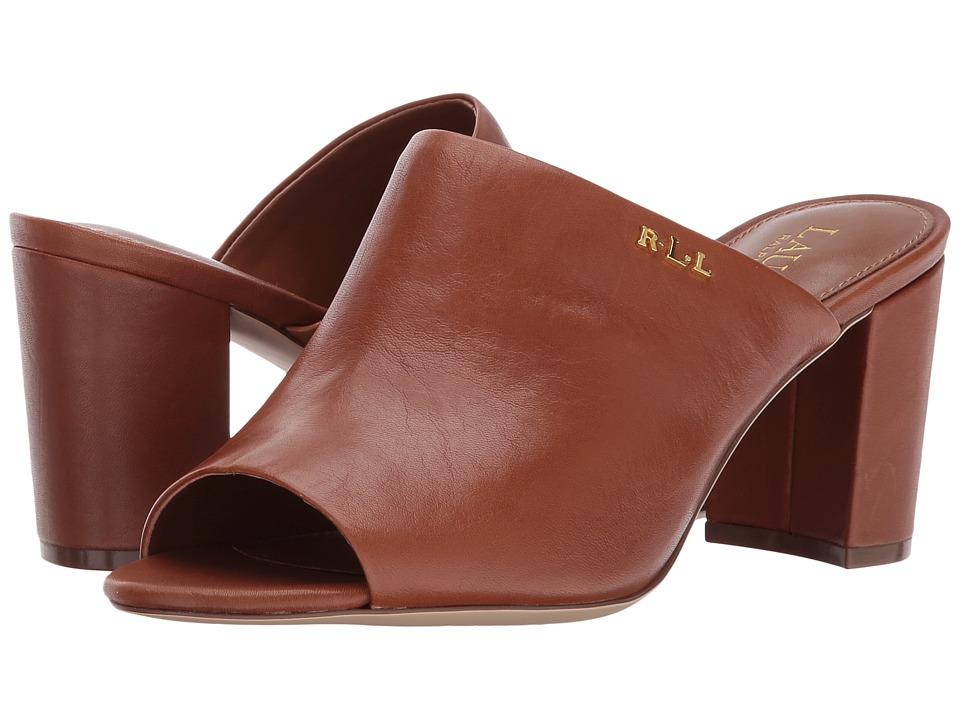 LAUREN Ralph Lauren Harlowe-SN (Deep Saddle Tan Super Soft Leather) Women