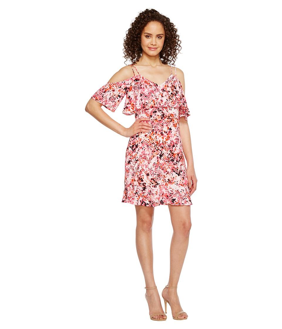 Jessica Simpson - Printed Cold Shoulder Dress JS7A9571 (Print) Womens Dress