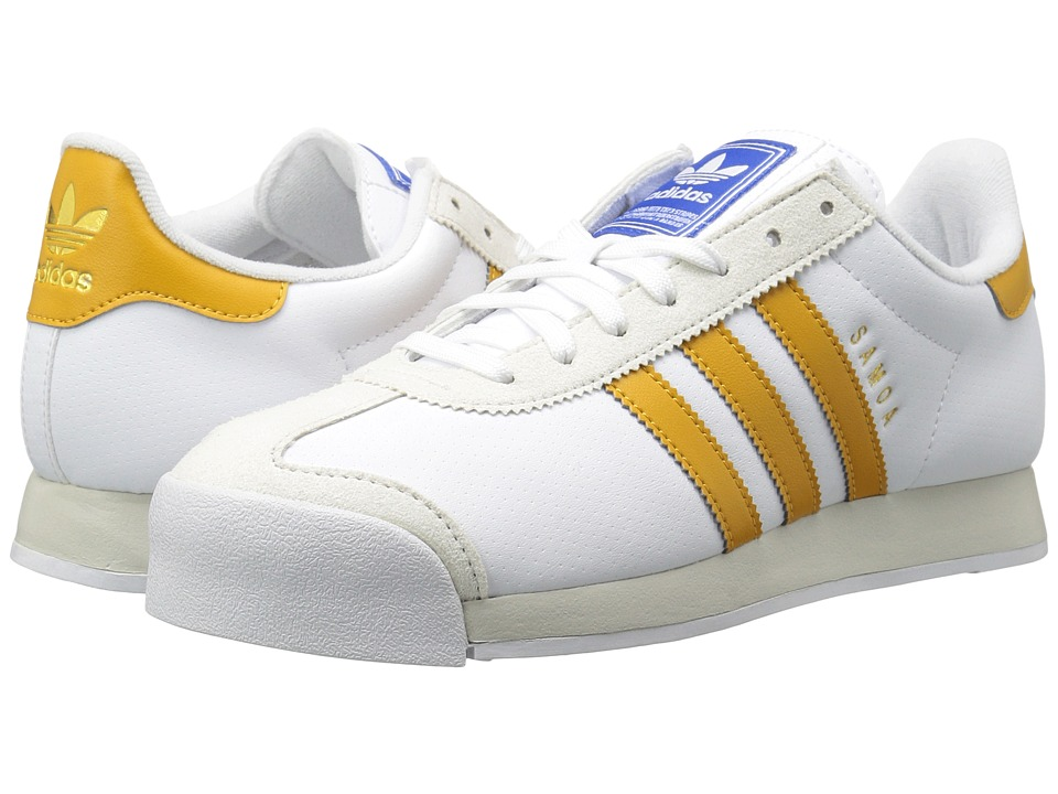 adidas Originals - Samoa (Footwear White/Tactile Yellow/Talc) Mens Classic Shoes