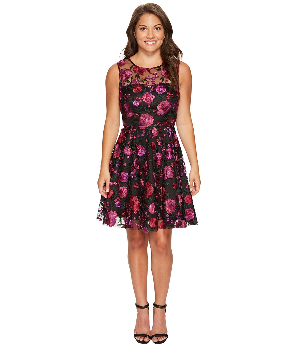Tahari by ASL Petite - Petite Embroidered Party Dress