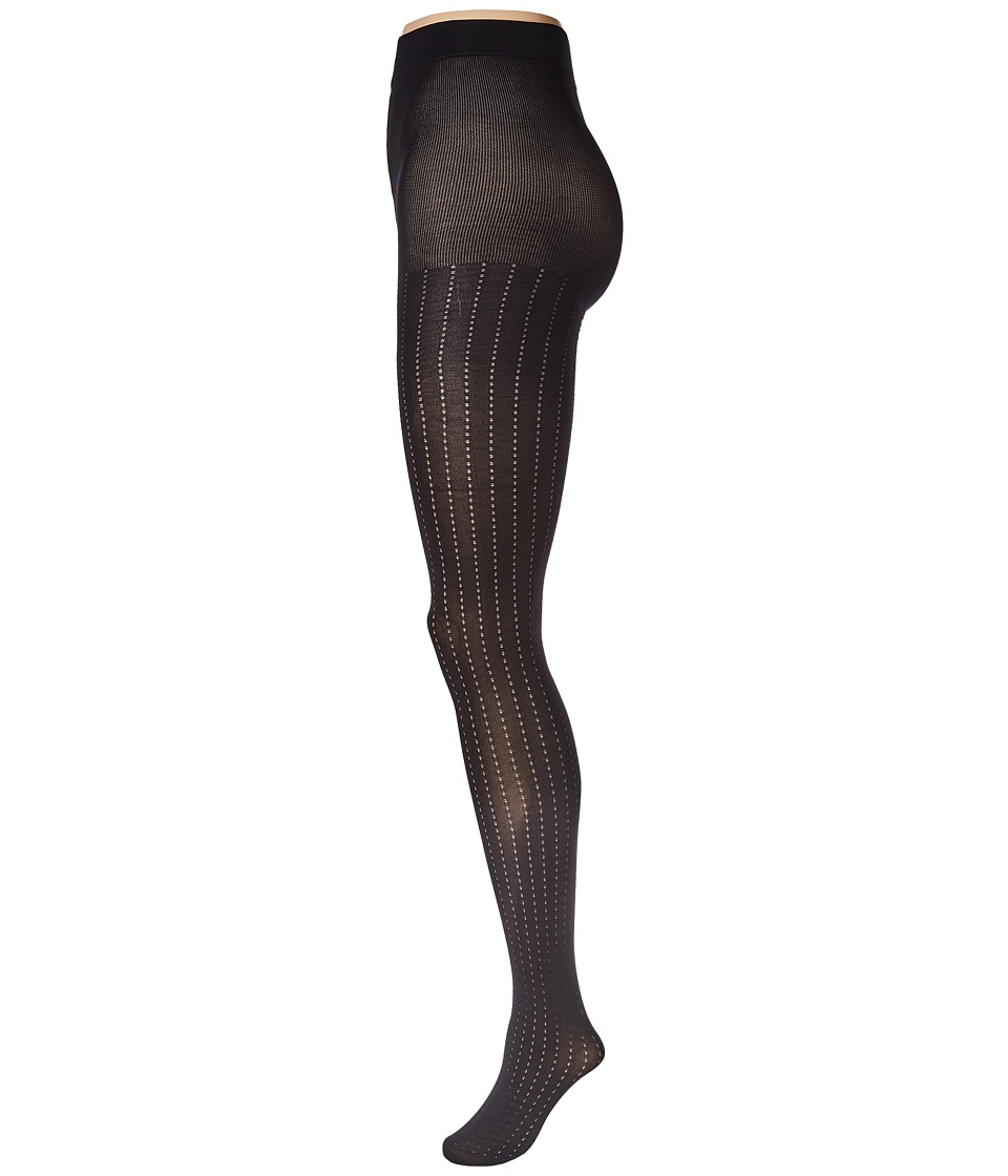 Pretty Polly - Vertical Pattern Tights (Black) Hose