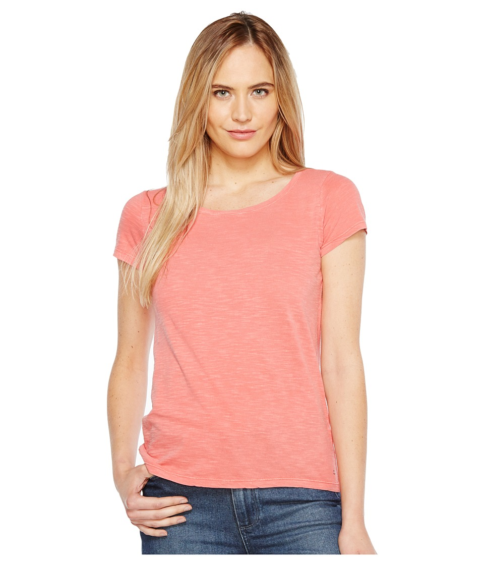 Calvin Klein Jeans Essential Scoop Neck T-Shirt (Fire Coral) Women