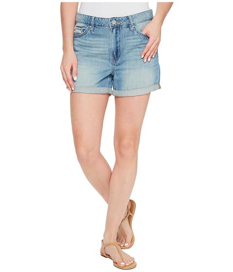 Calvin Klein Jeans Whisper Weight Boyfriend Shorts in Ocean Mist Wash