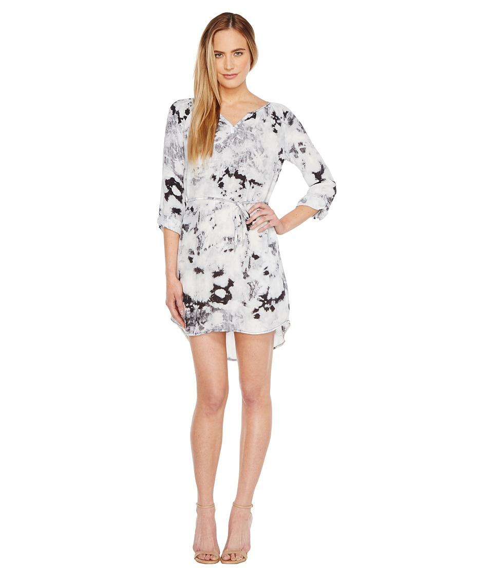 Calvin Klein Jeans Graphic Print Modern Boho Dress (Soft Taupe) Women